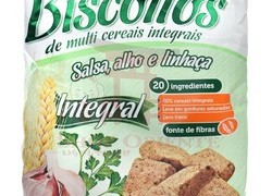 Biscoito Integral salsa alho linhaca Biosoft